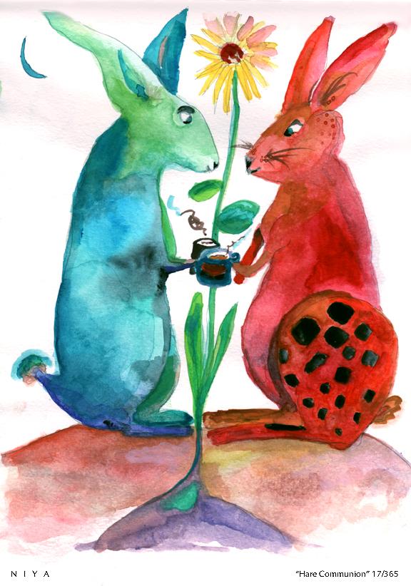 Gouache Painting by Niya Christine 17/365. Copyright 2013