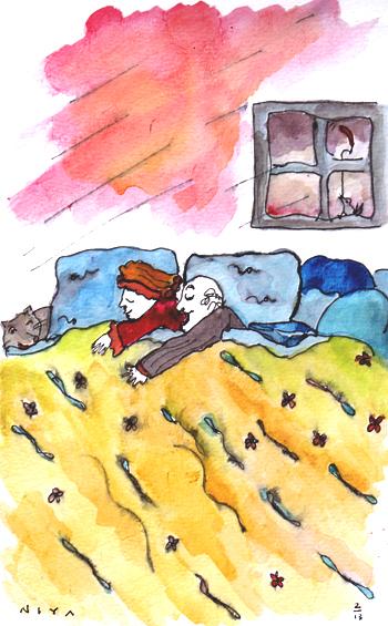 Watercolor by Niya Christine. 365 Paintings