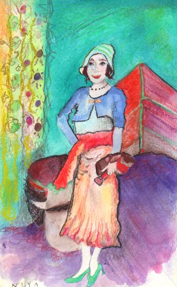 Painting by Niya Christine