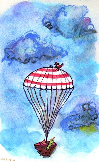 Painting by Niya Christine. Copyright