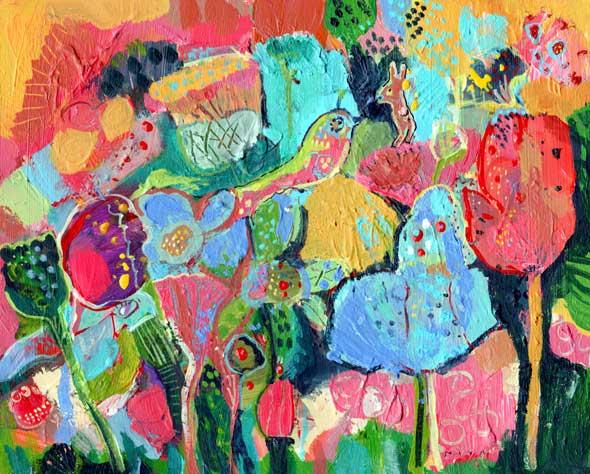 Bird, Bunny, Owl Garden