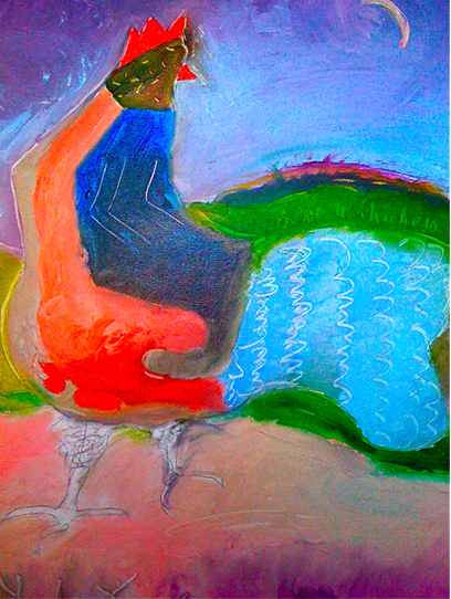 Love a Chicken. Painting by Niya Christine