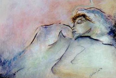 Sleeping Child, Pastel by Niya Christine