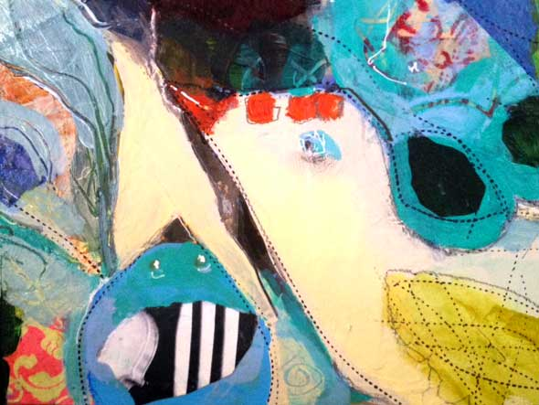Mixed media-close up
