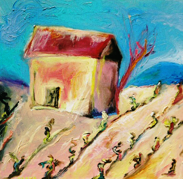 Vineyard Shed, France, Hal Ackerman Private Collection, Niya Christine, Art. Copyright 2013